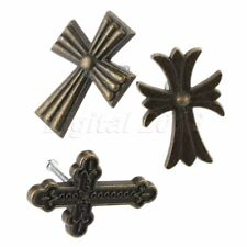 Zinc Alloy Drawer Cabinet Cupboard Pull Knobs Single Hole Antique Cross Handle