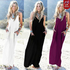 Hippie Boho Women Summer Evening Cocktail Party Beach Long Maxi Dress Size 10-18
