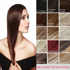 "Secret Wire Headband 100% Remy Natural Human Hair Extensions Half Head 22"" 120G"