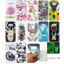 For Samsung Galaxy S8 Cases Cool Noctilucent Case Butterfly Flowers Owl Feather