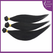 3 PCS Straight Human Hair Weave Black Brazilian Remy Hair Extensions 10''-20''