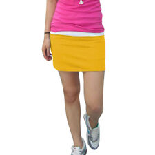 Ladies Stretchy Ribbed Elastic Waist Mini Pencil Skirt