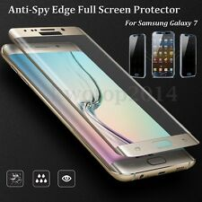 9H Edge Full Anti-Spy Screen Tempered Glass Protector For Samsung Galaxy 7 Edge