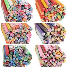 50pcs 3D Nail Art Fimo Canes Stick Rods Polymer Clay Stickers Tips Decor Hot