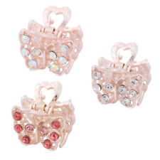 Lady Butterfly Shaped Faux Rhinestone Inlaid DIY Hairstyling Hair Claw Clip Jaw