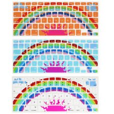 Rainbow Pattern Silicone Keyboard Film Cover Skin Protector for MacBook Pro 13""