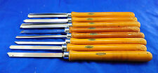 VINTAGE  CRAFTSMAN  8  PIECE LATHE TURNING CHISEL SET - PROFESSIONAL