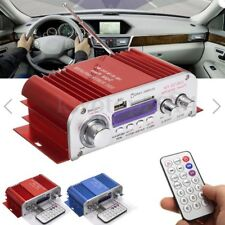2 Channel Hi-Fi Audio Stereo Mini Amplifier Car Home MP3 USB FM SD w/ Remote 12V