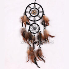 Handmade Dream Catcher Feathers Beads Ornament Home Wall Car Hanging Decoration