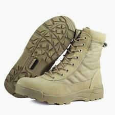 Side Zip Suede Leather Combat Work Military Shoes Men Tactical Desert Khaki Boot