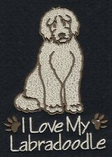 LABRADOODLE     EMBROIDERED PERSONALISED HOT WATER BOTTLE COVER 3 COLOURS BNWT