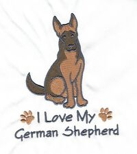 GERMAN SHEPHERD   EMBROIDERED PERSONALISED HOT WATER BOTTLE COVER 9 COLOURS BNWT