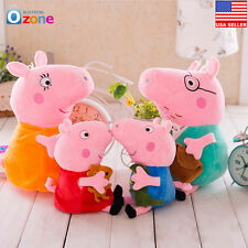 Peppa Pig Family Peppa George Mummy Daddy Stuffed Toy Baby Kids Gift Plush Doll