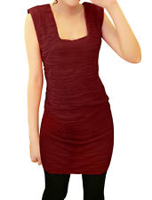 Stylish Square Neckline Stretchy Slimming Mini Dress For Lady