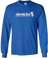 Aviacsa Vintage Logo Mexican Airline Long-Sleeve T-Shirt