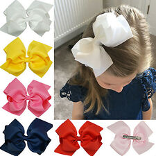 Girls Large Double Layers Hairbow Hair Bow Grosgrain Ribbon Clip Hairpin Worthy