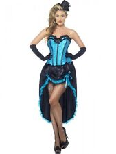 Ladies Burlesque Dancer Fancy Dress Costume Moulin Rouge Can Can Womens Outfit