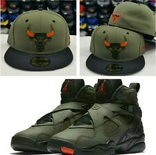 Matching New Era NBA Chicago Bulls 59Fifty Fitted Hat for Jordan 8 UNDEFEATED