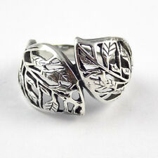 1 Pcs Beautiful Leaf Style Design 925 Sterling Silver High Polished Oxidize Ring