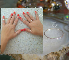 Wholesale JOB LOT of 25 Sterling Silver Midi rings great profit size US3.5 / UKG