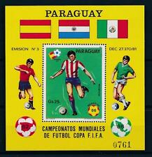 [59337] Paraguay 1984 World Cup Soccer Football Spain Mexico MNH Sheet