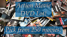 DVD Lot of Action DVDs: 250 Movies to Pick From! Purchase Multiple And Save!