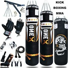 KickBoxing 15Piece Set 3/4/5ft Punch Bag Heavy Gloves,Chains,Bracket,Kick Filled