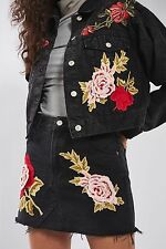 TOPSHOP *MOTO Black Luxe Rose Jacket* SIZE_UK6_8_10_12_14_16