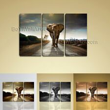 Large Photo Canvas Print Elephant Modern Abstract Wall Art Framed Sunset BoYi