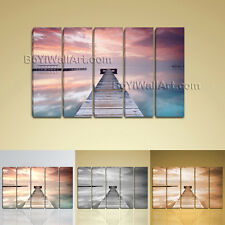 Large Ocean Sunrise Landscape Contemporary On Canvas Print Wall Art Dining Room