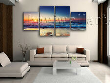 Large Seascape Painting Sunset Print Canvas Art Dining Room Tetraptych Pieces