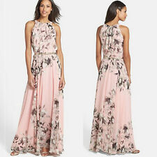 Women Chiffon Floral Evening Cocktail Party Long Maxi Dress Boho Beach Sundress