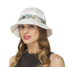 Ladies & Girls Flexible Foldable Cotton Floral Print Trim Summer Sun Bucket Hat