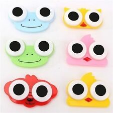 Cute Cartoon Portable Contact Lens Box Case Storage Cleaning Holder