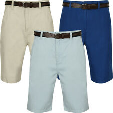 New Mens Tokyo Laundry Aragon Belted Cotton Tailored Chino Shorts Size S-XL