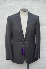 NEW Ralph Lauren Purple Label Suit Glen Plaid Wool Grey US 44 46 EU 54 56 $2300