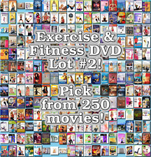 Exercise & Fitness DVD Lot #2: 250 Movies to Pick From! Buy Multiple And Save!