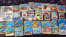 Lego Instructions  Pamphlets Maps Directions Classic Town 1980s