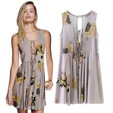 Womens V Neck Party Evening Mini Dress Summer Boho Beach Casual Floral Sundress