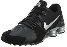 Nike Shox Avenue Leather Running Shoes Mens Size Black Silver 833584 001