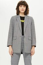 TOPSHOP *Grey Check Suit Jacket* SIZE_UK6_8_10_12_14_16