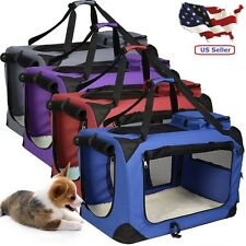Fabric Soft Pet Crate Cat Dog Cage Carrier House Kennel Foldable Portable