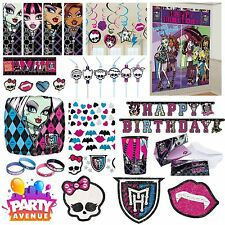 Monsters High  Party Tableware Decorations Balloons Favours