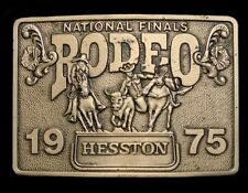 QD04135 *UNUSED* NFR ***1975 NATIONAL FINALS RODEO*** HESSTON COLLECTOR BUCKLE