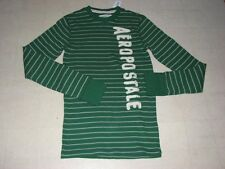 Aeropostale Thermal Stripes Long Sleeve Shirt For Men Red SZ XS/S/M  - NWT $39.5