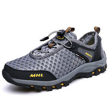 Mens Fashion Breathable Trail Hiking Shoes Shock Absorb Non Slip Outdoor Shoes