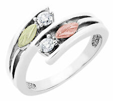Black Hills Gold on Sterling Silver Diamond Ring Size 4 - 10