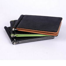 Newest Mens Card Coin Pockets Bifold Money Clip Leather Holder Wallets Purse