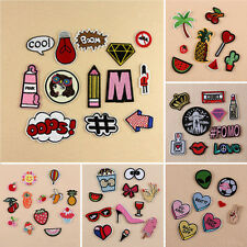 Embroidered Sew Iron Patches Badge On Fabric Clothes Applique Hat Craft Repair