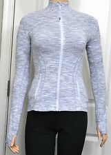 NWT Lululemon Define Jacket Sz 4 6 8 10 12 Wee Are From Space Grey White Stripe